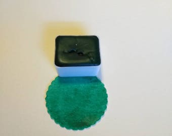 Viridian Green Handmade Watercolor.Single Halfpan