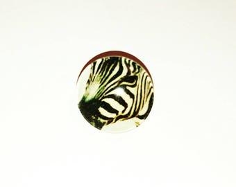 Snap chunk safari Zebra cabochon