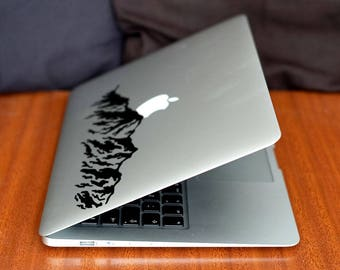 Mountain Decal Sticker for Macbooks and other Laptops, Mountains Hill Highlands Mount Everest Skin Laptop Vinyl decals, mac