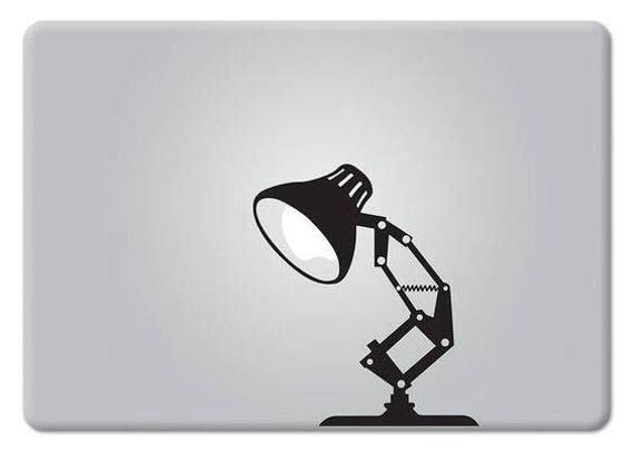 Desk Lamp, Pixar Style Lamp, Decal Sticker for Macbooks and other Laptops, mac, Lamp, Macbook Sticker, pixar decal, macbook pro, macbook air