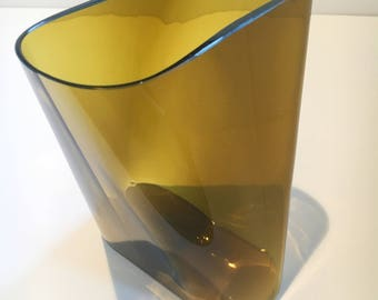 Nuutajärvi Glass Vase Kaj Franck Rare