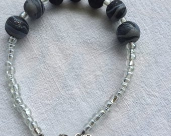 The 'Midnight' Half bracelet with essential oil diffusion beads