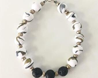 Winter Bracelet, Essential Oil Diffuser