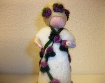 Felt character Rosalie felting unique seasonal decor wool gift