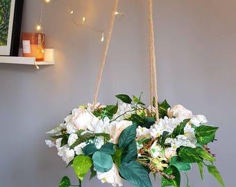 Floral botanical themed chandelier floral chandelier