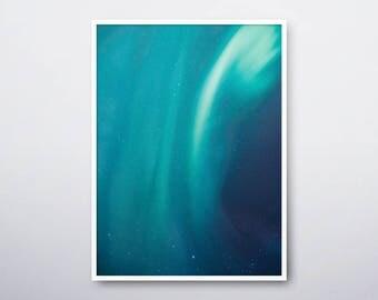 Aurora Printable, Aurora Borealis, Northern Lights, Northern Sky Light, Aurora Poster, Celestial Print, Sky Wall Decor, INSTANT DOWNLOAD