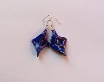 Blue and violet earrings