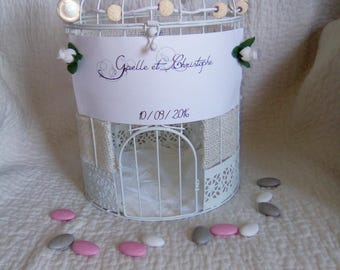 Urn wedding bird cage