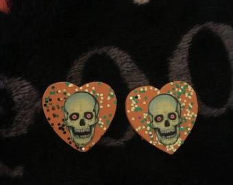 Vintage skeleton earrings
