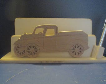 letters with carved car holder