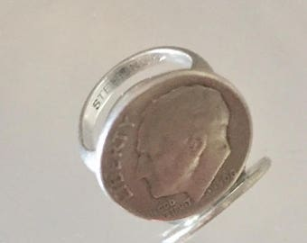 Vintage Dime Ring from 1960