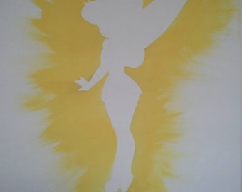 hand painted tinkerbell canvas