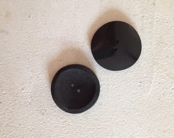 Round black buttons set