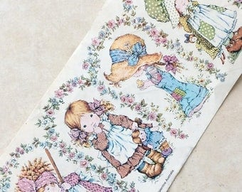 Shop Opening Sale 1980s Holly Hobbie Large Sticker, never used