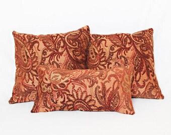 Paisley Fields Reversible Throw Pillow Set