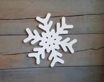 Snowflake, Wooden Snowflake, Snowflake Sign, Christmas Sign, Winter Decor, Rustic Christmas Decor, Let it Snow, Holiday Decor
