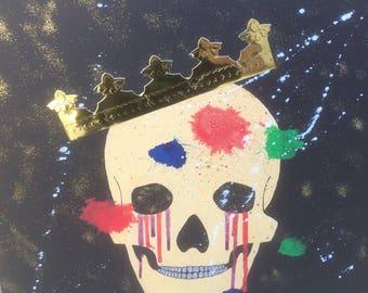 Painting acrylic skull