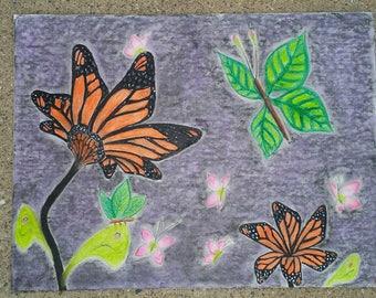 Surrealist Butterfly - Original Drawing