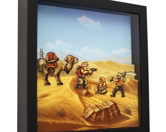 """Metal Slug 2 - 3D Shadow Box (9"""" x 9"""")"""
