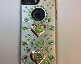 Green Rhinestone Iphone Case