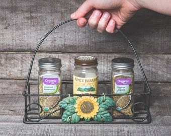 country kitchen decor condiment caddy sunflower serving tray sunflower kitchen decor unique