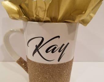 Gold Glitter Mug