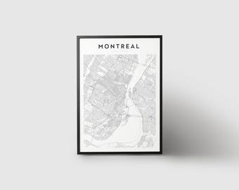 Montreal Map Print