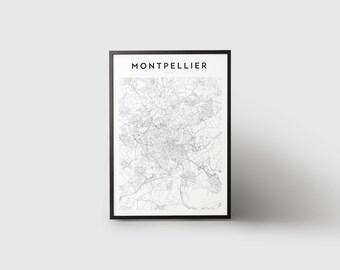Montpellier Map Print