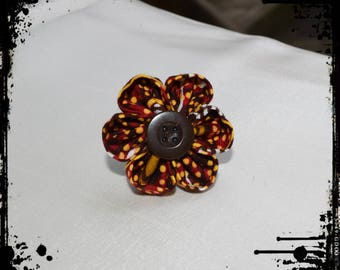 Kanzashi flower laterite flower ring