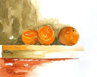 Ranges of Orange No.3 Limited Edition Giclee Print 2/25