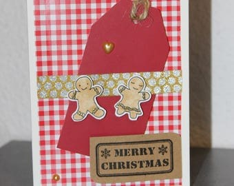 "Christmas greeting card ""Mr & Mrs gingerbread"""