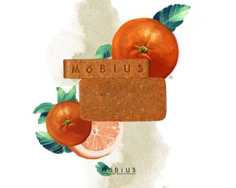 """SOAP shower care """"Citrus & URUCUM"""" Saponified cold and test to 9%."""
