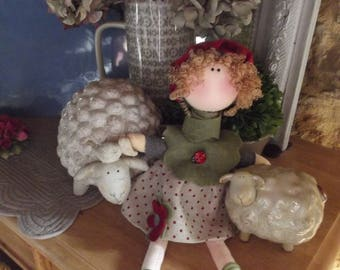 Decorative and collectible Nordic style fabric doll