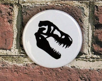 T-Rex Skull Pin Button