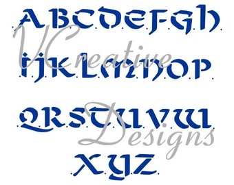 Celtic Upper Case alphabet stencil