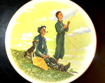 Norman Rockwell Plate SPRING | Limited Edition 1976 Gorham