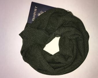 Infinity hidden pocket scarf- Olive Green