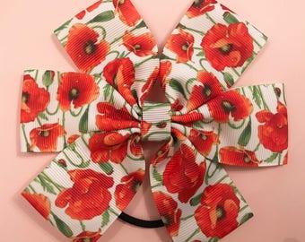Large poppy bow