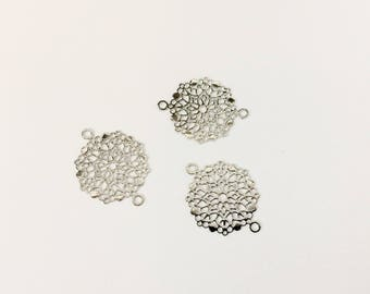 20 prints spacer rhodium 20x15mm for creations of jewels