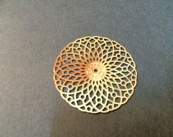 prints 10 rosette spacer smooth brass 35mm champagne color