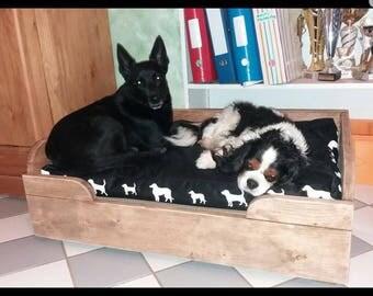 Furniture wooden dog bed