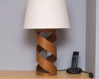 Wooden Table Lamp, Lamp Base, Walnut Lamp, Table Lamp, Bedside Lamp,