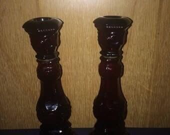 2 Vintage Avon Cape Cod Candlesticks