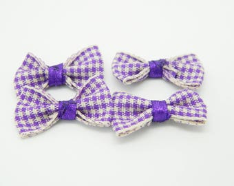 Bow purple 25mm x 4 (l621)