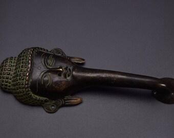 Antique Finish Lord Buddha Design Door Handle Brass Metal Figurine Home Decor  Nagkanya door handle brass door