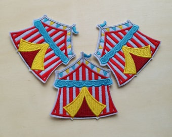 A dozen - 12pcs - Circus tent Embroidered Iron on Patch Applique machine embroidery