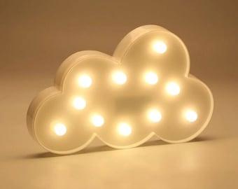 Cute Cloud LED warm white night light