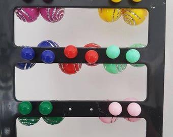 Colorful Stud Earrings rhinestone earrings