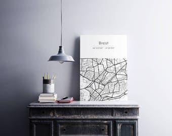 Brest poster - Map (A4)