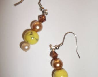 lemon Pearl Earring